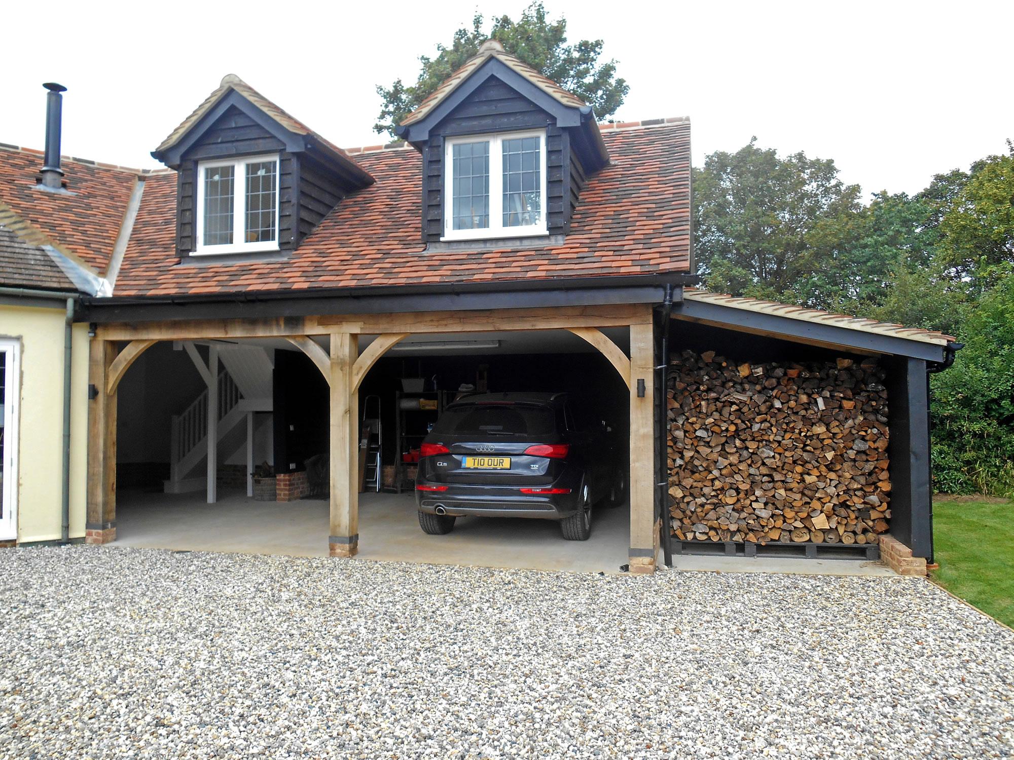 Timber Frame Garden Storage and Garage