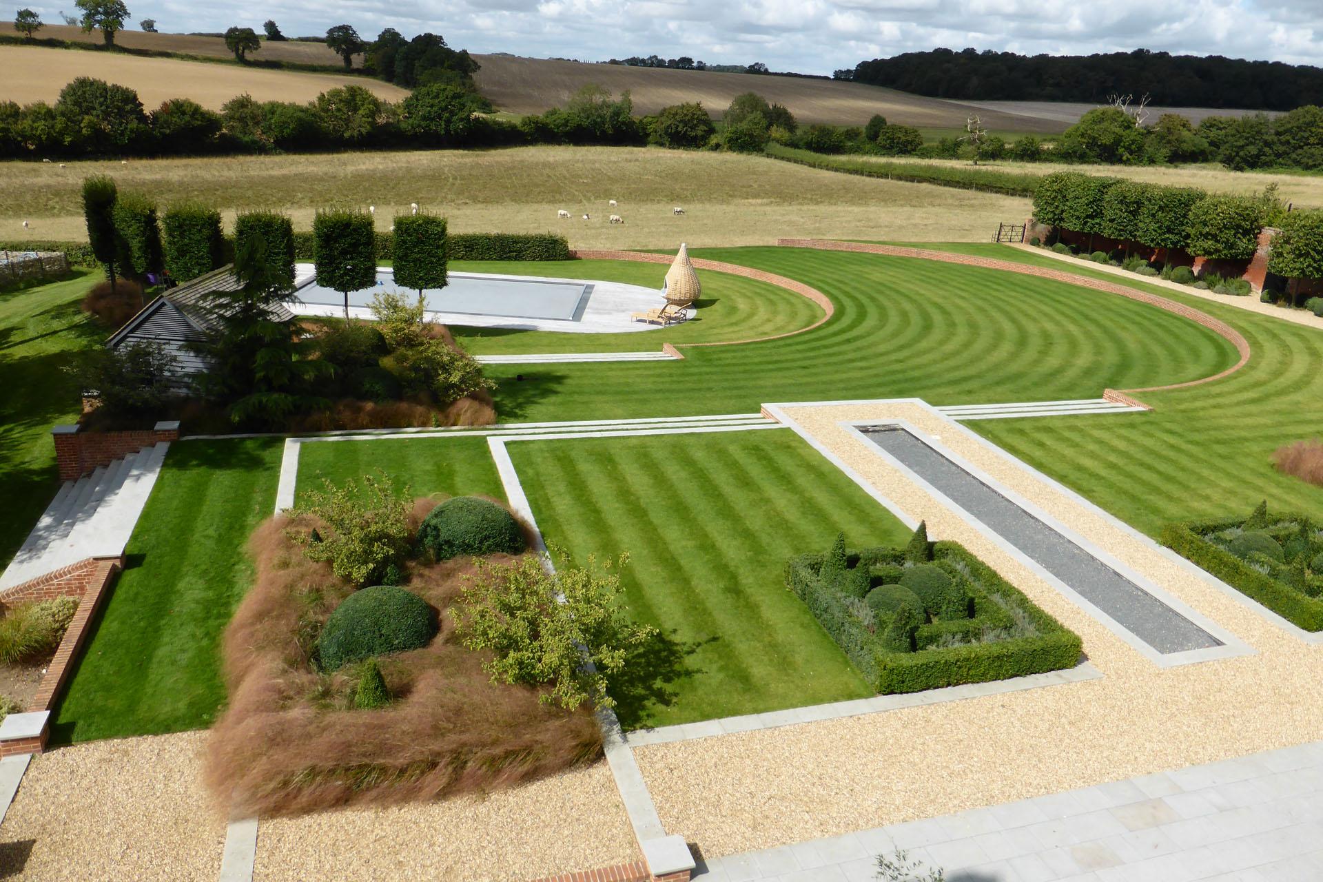 Main Photo; Lawn & Pool Area, Suffolk